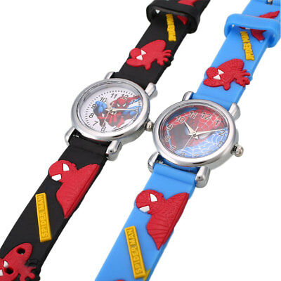 Cartoon Child Fashion Rubber Leather Boy Analog Quartz Wrist Watch Gift