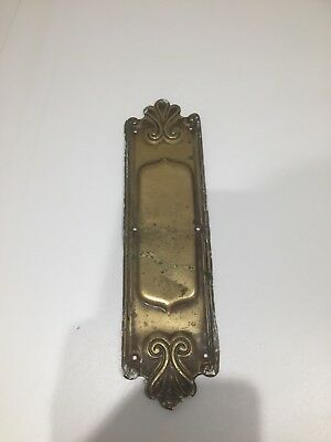 Single,antique,Victorian,door jewellery,finger/pushplate,ironmongery,brass