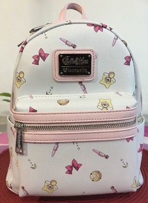 Loungefly Sailor Moon Icons Print Mini Backpack NWT