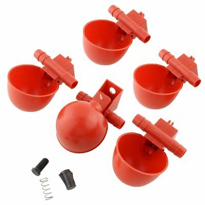 New 5Pcs Feed Automatic Bird Coop Poultry Chicken Fowl Drinker Drinking Feeder