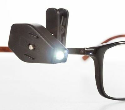 Clip Light for Glasses or Book - Spectacles clip-on LED Reading Lamp Micro lamp