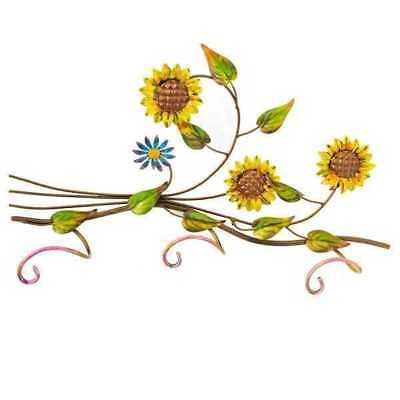 Coat Hangers Padded Hanger Sunflowers Wrought Iron 3 Posti Wall
