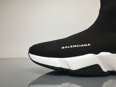 Mens Balenciaga Black White Speed Trainer Runner Sock Shoes Sneakers All Size