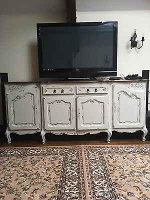 Antique French Vintage Sideboard Dresser