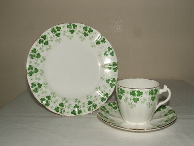 Shelley/ Wileman Lily Shaped Clover Leaf Tea Trio Truly Stunning