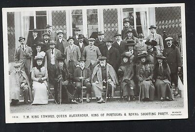 King Edward King Portugal Shooting Party (RP Pre 1914)