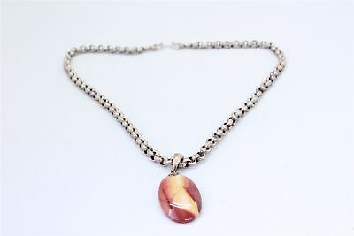 .925 STERLING SILVER CHUNKY PENDANT NECKLACE 62g