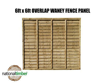 Free Delivery Various Heights 3 Panel Pack Waney Lap Fence Panels
