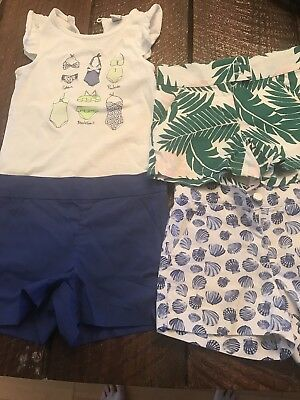 Janie And Jack Shorts Lot shirt size 5 shorts are size 4