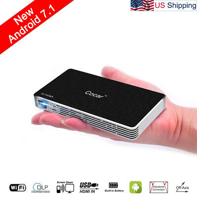 Android 7.1 Mini Projector Movie Video Player Wifi for iPhone Airplay Portable