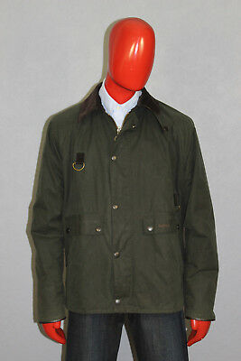 Mens Barbour Standen Waxed Coat Jacket Green Size Extra Large