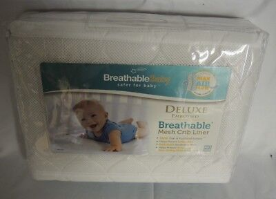 BreathableBaby Breathable Mesh Crib Liner in White