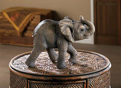 Happy Little Elephant Statue Figurine New