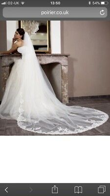 Poirier Cathedral Length Veil Brand New In Box