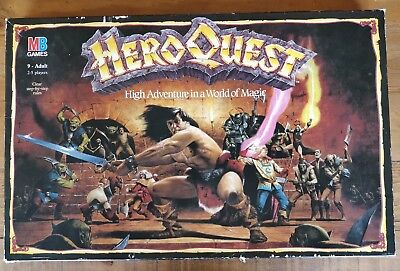 Vintage 1989 Hero Quest Board Game Role Playing MB Games Warhammer