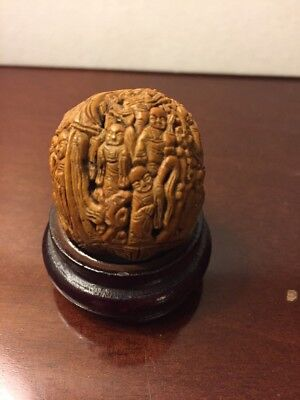 Vintage Chinese Carved Walnut She'll.