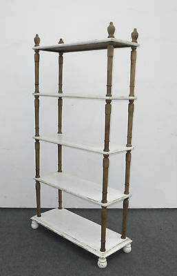 Vintage FRENCH COUNTRY COTTAGE Chic Shabby WHITE Rustic BOOKCASE BookShelves