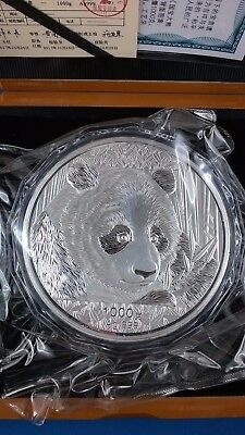 Chinese Panda 2018 1 kg Commemorative Medal silver coin with Box & COA