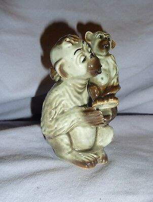 Vintage Chimp Mother & Child Salt & Pepper - Ceramic Arts Studio - Usa