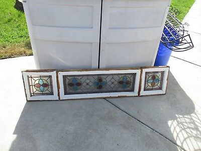Stained Glass Sidelites With Transom Window 5 Pc Set