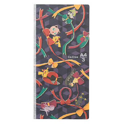 Pokemon Center Original Japanese Pattern Notebook Memo Pad #2 Bow Espeon Umbreon