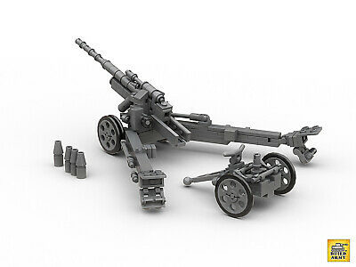WW2 German 15cm sFH 18 howitzer brick+instruction made by lego digital designer