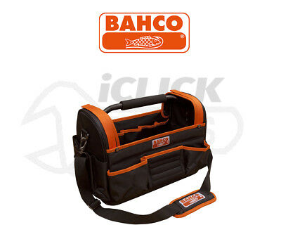 "BAHCO 3100TB 450mm 17"" Hard Base Open Tote Multi Pocket Storage Hand Tool Bag"
