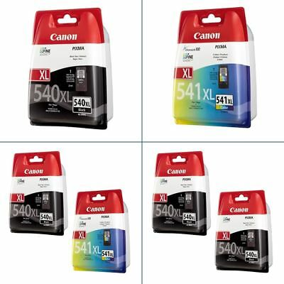 Genuine Canon PG540XL & CL541XL Ink Cartridges - For Canon PIXMA Printers