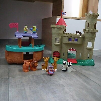Lot Little People - Fisher Price - L'arche de Noe et Château - excellent état