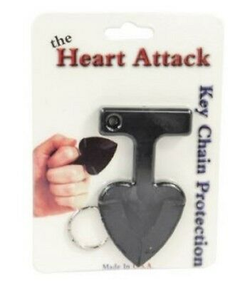 Heart Attack Womens Personal Self Defense Safety Security Key Chain Set of 2