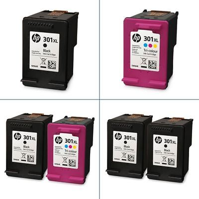 Genuine HP 301XL Black & Colour Ink Cartridges - Original HP XL Cartridges