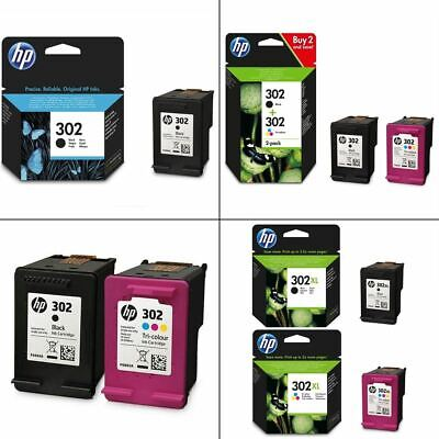 Genuine HP 302 Black & Colour Ink Cartridges - Original HP Cartridges