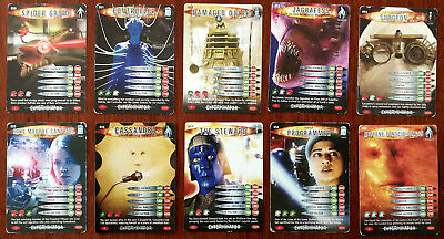 Doctor Who Battles In Time 10 x Trading Cards (050 - 059)