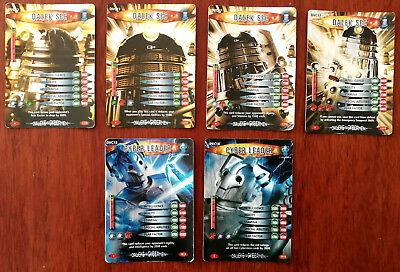 Doctor Who Battles In Time 4 x Dalek Sec + 2 x Cyber Leader + Psychic Paper Card