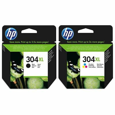 Genuine HP 304XL Black & Colour Ink Cartridges - Original HP XL Cartridges