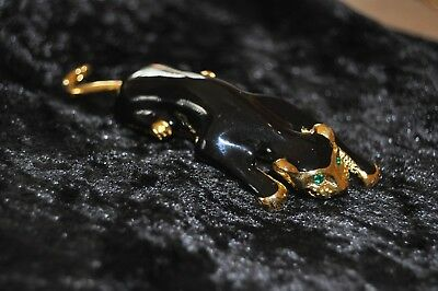 Vintage Costume Jewwllery Panther Brooch Signed