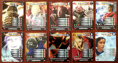Doctor Who Battles In Time 10 x Trading Cards (030 - 039)