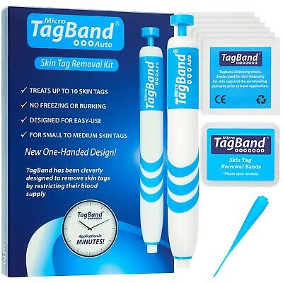 Micro Auto TagBand Skin Tag Removal Device Kit. Fast & Effective Skintag Remover