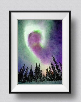 Northern Lights print, Wall Art, Wall Hangings, Home Decor, Landscape, Norway
