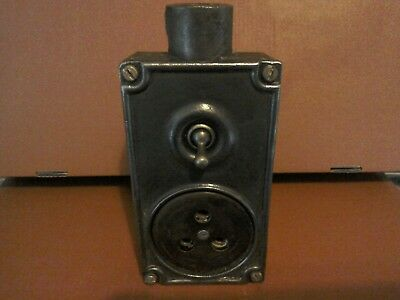 vintage reclaimed cast iron light switch by tucker art deco excellent example of