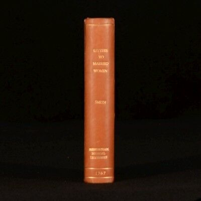 1767 Letters to Married Women By Hugh Smith Child Care Scarce First Edition