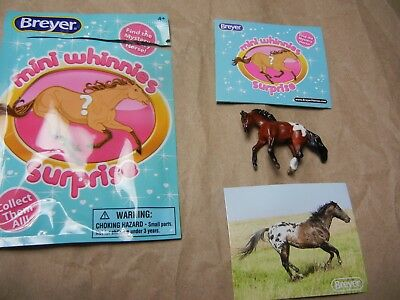 Breyer Mini Whinnies Surprise 97260 2018 Jinx Cantering Stock Opened Semigloss
