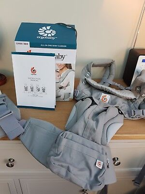 Ergobaby Omni 360 Baby Carrier Pearl Grey Newborn 0-3 Babies 4 Carry Positions