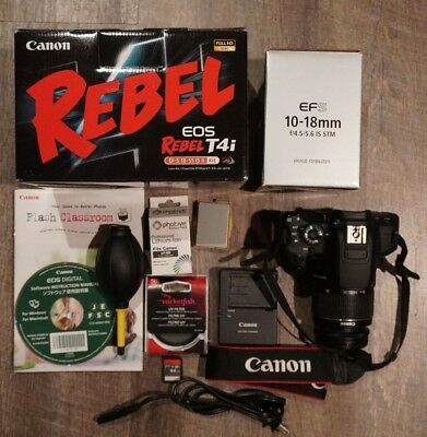 Canon T4i Bundle with 10-18 and 18-55 lenses