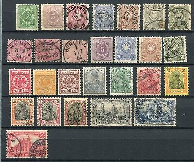Germany (Reich)  -  Selection classics, MH/Canc. Mint no gum