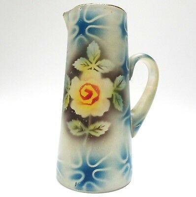 Art Deco Pitcher Jug Glass Airbrushed