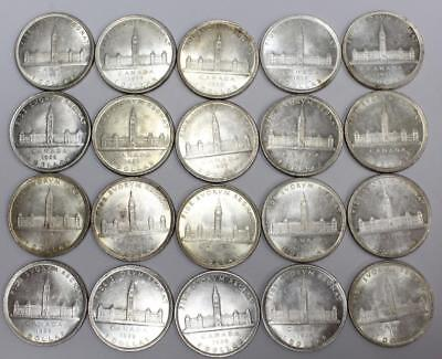 20 x 1939 Canada silver dollars King George VI  Choice AU55 or Better