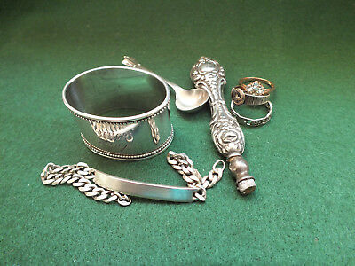 Small Job Lot of Russian & English Solid Silver - Collectible / Scrap / Resale?