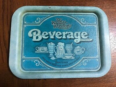 Vintage 1979 Metal TV Tray The Warm And Wonderful Beverage Company Soda Tin