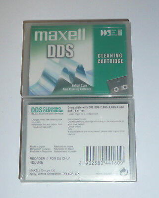 MAXELL HS-4 DDS/DAT Reinigungskassette Cleaning Cartridge - in Folie - NEU & OVP